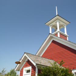 Classic red schoolhouse