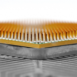 Macro of a computer chip