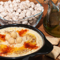 Hummus and garbanzo beans
