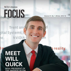 NCSU Libraries Focus Magazine Cover with a Story about Will Quick