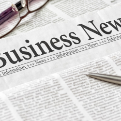 Photograph of generic Business News newspaper