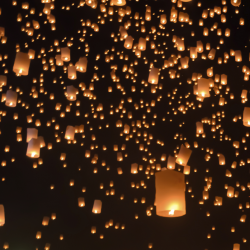 Sky Lanterns in Celebration