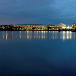 Photograph of Washington DC at night