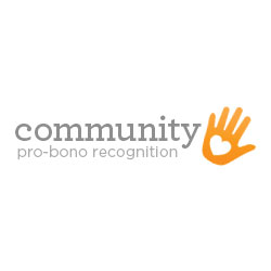 Community pro-bono recognition logo