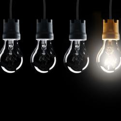 Lightbulbs, idea, innovation