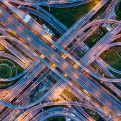 Highway interchanges, transportation