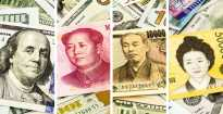 Faces of leaders on currency