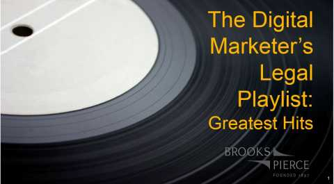 Digital Marketer's Legal Playlist