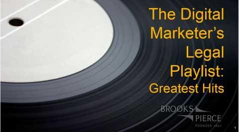 Digital Marketer's Legal Playlist