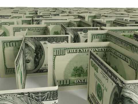Maze made of hundred dollar bills