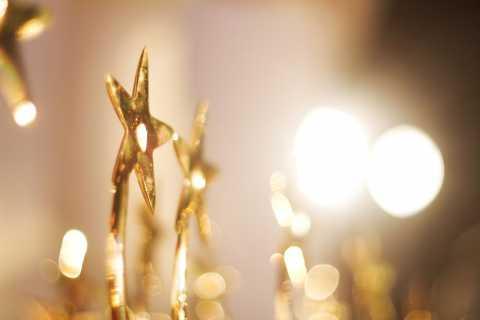 Golden Star-shaped Trophy