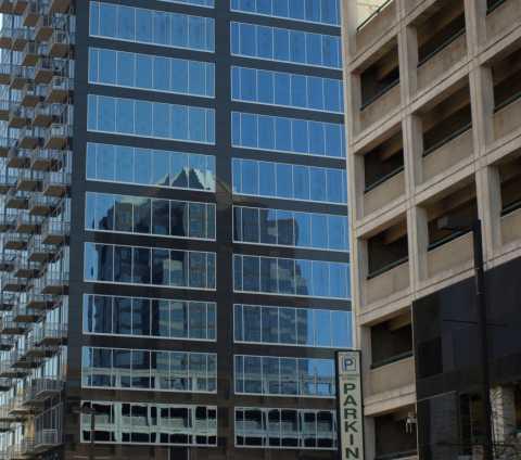 Downtown Greensboro Reflection