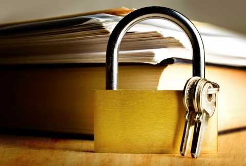 Lock and Key With Documents