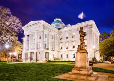 NC State Capitol at Night