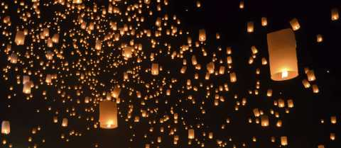 Sky Lanterns in Celebration