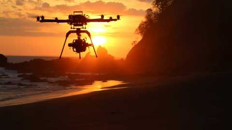 UAS Drone at Sunset