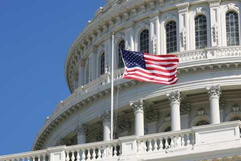 US Capitol, Flag waving