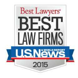 US News & World Report Best Lawyers Best Law Firms 2015 logo