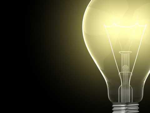 Big Lightbulb on Black Background