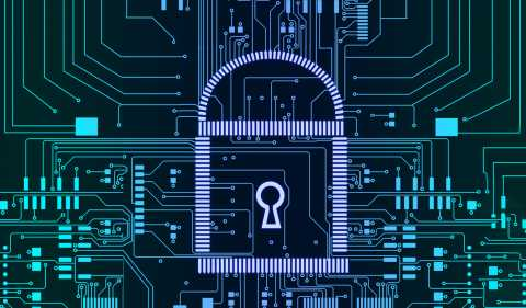 Cybersecurity, data privacy concept, lock and key