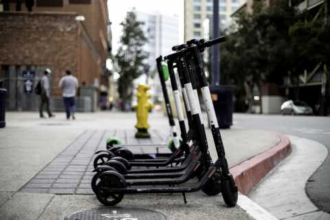 E-Scooters for rent.