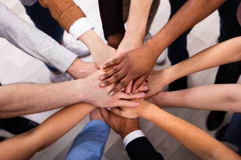 Hands together, team work