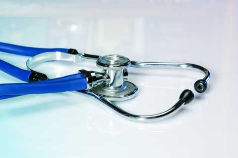 Close up of a doctor's stethoscope