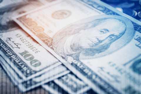 Money, close up of hundred dollar bills