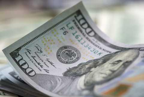 Money, close up of hundred dollar bill