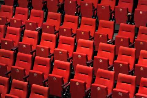 Red seats in an auditorium
