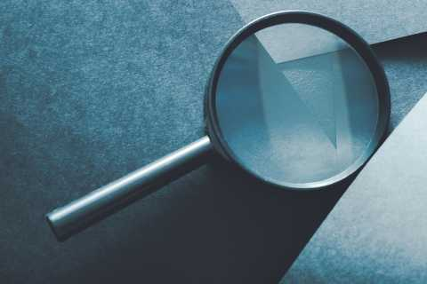 Magnifying glass, transparency